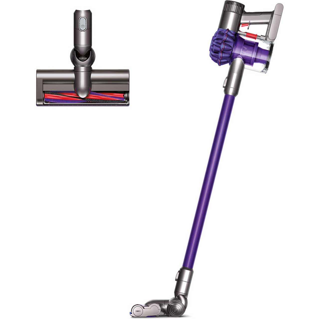sealed dyson v6 sv04 animal handheld cordless bagless vacuum purple iron ebay. Black Bedroom Furniture Sets. Home Design Ideas
